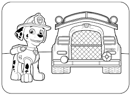 Fire Dog Free Coloring Page Animals Kids Paw Patrol Coloring Pages