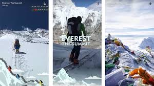Coors Light Climb On Campaign Snapchats Everest Live Story Shows Apps Heightened Programming