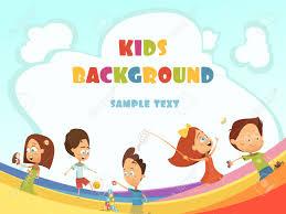 indoor activities for kids. Playing Kids Cartoon Background With Outdoor And Indoor Activities Symbols Illustration Stock Vector - 65372166 For