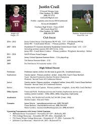 Soccer Player Resume Template