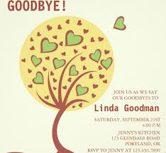 heart tree farewell party invitation template printable