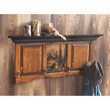 Bear Coat Rack Awesome Black Bear Scene Coat Rack