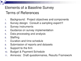 Baseline Survey Design Ppt Developing A High Quality Baseline Powerpoint