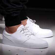 nike sb zoom stefan janoski leather all white whiteout