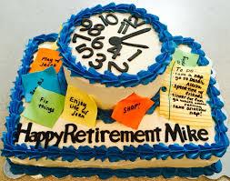 Clock Retirement Cake Visit Bubba Bellies Creative Design On