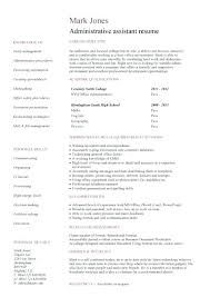 Objective For Office Assistant Cool Resume Examples For Office Assistant Sample Entry Level Templates