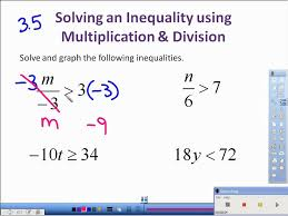 3.5 Solving Inequalities with Multiplication and Division.avi ...