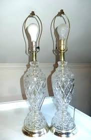 vintage crystal lamps antiques crystal lamps pair lead table d cut antique photos crystal chandelier table
