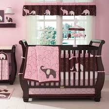 carters pink elephant baby bedding collection