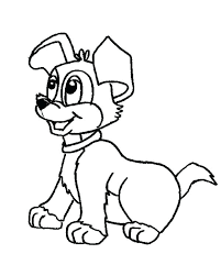 Dogs Colouring Pictures Picture Of A Cute Dog Coloring Page Color