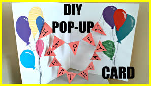3DLuftballon Karte  Basteln  Pinterest  Cards Card Ideas And Card Making Ideas For Birthday