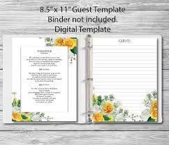 Guest Book Template Adorable Funeral Guest Book Template Colbroco