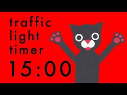 15 Minute Timer Colour Change Traffic Light Cats Clock