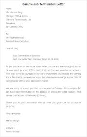Termination Letter Format For Absconding Employee Free Form