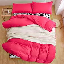 home textiles rose red zebra solid color bedding sets 3 4pcs duvet cover bed sheet pillowcase king queen full twin size