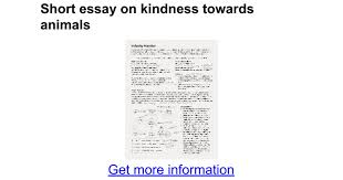 short essay on kindness towards animals google docs