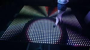 Light Up Floor Mat Hot Item Pro 50 X 50 Cm Disco Wedding Rgb Interactive Led Light Up Dance Floor Mat