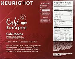 cafe escapes cafe mocha keurig single serve k cup pods 0 52 oz 24 count amazon grocery gourmet food
