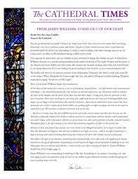 James Williams Stand Out Of Our Light Cathedral Times May 19 2019 By The Cathedral Of St
