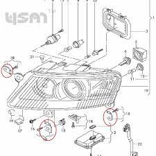 New headlight l right repair kit for audi a6 s6 quattro 2005 2006 2007 2008 2009 2010 2011 4f0998122 4f0 998 122 in auto fastener clip from automobiles