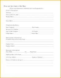 Employee Emergency Contact Form Template Information Sheet