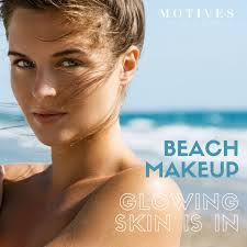 beach day makeup look with motives