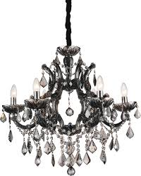 6 light up chandelier with chrome finish