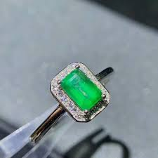 <b>shilovem 925 sterling silver</b> real Natural Emerald Rings fine Jewelry ...