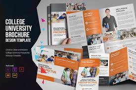 University Brochure Template College University Prospectus Brochure Templates Creative Market 10