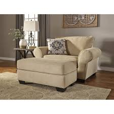 signature design by ashley denitasse chair and a half and ottoman item number 84904