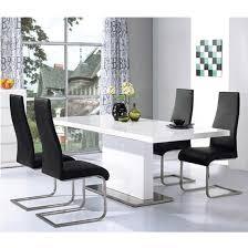 chaffee high gloss dining table set