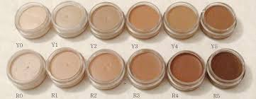 occ skin concealer shades on a white background