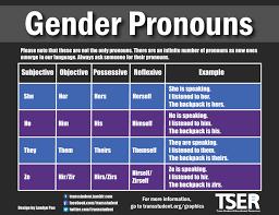 All Genders Chart Gender Pronouns Trans Student Educational Resources