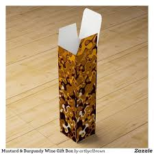 the mustard burdy wine gift box designed by artist c l brown features an abstract kinetic light painting edited for design with
