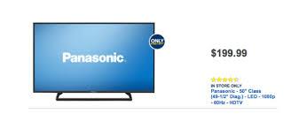 panasonic tv best buy. $199.99 50-inch panasonic tc-50a400u led tv is best buy black friday 2014 deal tv x