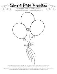 Birthday Balloon Coloring Sheet Highfiveholidays Com