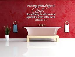 scripture wall decals for bathroom kitchen hobby lobby
