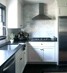 white brick backsplash brick tile