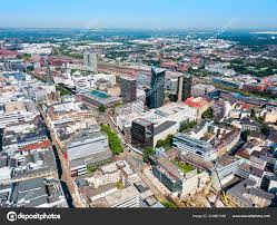 Dortmund city centre aerial view ⬇ Stock Photo, Image by © saiko3p  #324901168
