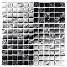 silver chrome glass mosaic tile 300 x