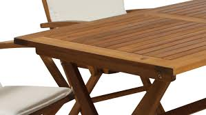 Gartentisch Tisch Klapptisch Esstisch Akazie Massivholz Geölt 120x70