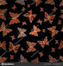 Motýlí Realistické Krásný Barevný Motýl černé Oranžové Bílé Pozadí