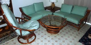 Retro Living Room Furniture Sets 1960s Vintage Bamboo Vinyl Retro Living Room Furniture Set For