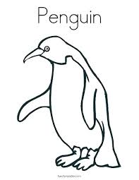 Penguin Coloring Pages Baby Penguin Coloring Pages Cute Baby Penguin