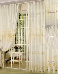 beautiful and stylish sheer curtains with light yellow patterns