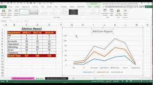 How To Create 2d Stacked Line Chart In Ms Office Excel 2016