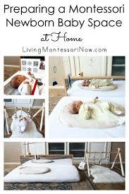a montessori newborn baby space