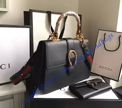 gucci dionysus leather top handle bag gu421999 black luxtime dfo handbags