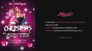 Work Christmas Party Flyers Christmas Party Flyer Free Psd Template Youtube