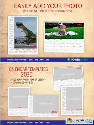 Photoshop Calendar Template 2020 Photo Calendar Year 2020 Templates Free Download Vector